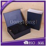 Caja de empaquetado mate del negro del logotipo de encargo con el parte movible de EVA