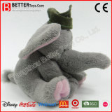 모자에 있는 귀여운 채워진 견면 벨벳 연약한 장난감 코끼리