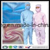 Tela de la ropa del recinto limpio modificado para requisitos particulares ESD