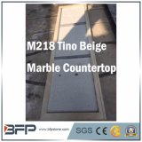 M218チノのベージュ自然な大理石の石造りのカウンタートップかベンチの上またはタイル