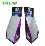 Étalage de carton avec des crochets pour des produits, présentoir d'étage de carton