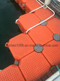 Dock flottant simple économique en plastique orange en gros de Jiachen