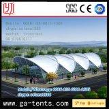 Año de Vida 40 Años Estructura de Acero 20 * 50m Gran Arco de Forma Estadio Jardín Carpa Cuadrada con Pared de Vidrio