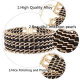 Monili Braided della collana del Choker del progettista del multi di strato di modo metallo della perla