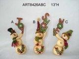Meias do Natal do boneco de neve de Santa da decoração do Natal, 3asst