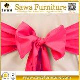 Faixa roxa da cadeira do cetim do casamento para as tampas da cadeira do banquete