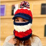 Крышка Neckwarmer зимы шлема изготовленный на заказ Knit руки Windproof, котор шелушат с капюшоном