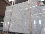 Brames de marbre blanches populaires de l'Italie Bianco Carrare pour le revêtement de plancher/mur