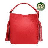 Европейский мешок Tote неподдельной кожи сумки ведра женщин способа при Tassel сделанный в фабрике Emg4913 Guanfzhou