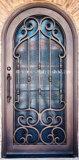 Handgemachte bearbeitetes Eisen-einzelner Eintrag-Haustüren