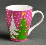 12oz de Ceramische Mok van China van de Gift van Kerstmis, de Mooie Koppen van de Koffie