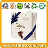 Quadratischer Schokoladen-Zinn-Kasten, Metallverpacken- der Lebensmittelzinn