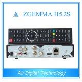 Système d'exploitation linux professionnel de Zgemma H5.2s de &Decoder de récepteur satellite DVB-S2+S2 Twintuners avec H. 265/Hevc