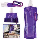 Подгонянная цветастая складная бутылка воды спорта для выдвиженческой продукции P016A-012