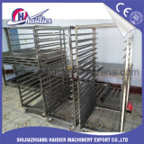 De Rekken van de Karren van het Voedsel van het Roestvrij staal van het Karretje van de bakkerij voor Roterende Oven