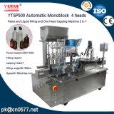 Завалки затира и жидкости головок Ytsp500 автоматическая Monoblock 4 и одна головной покрывая машина 2 в 1