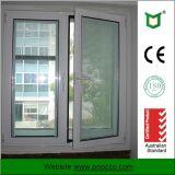 As2047 doppio Windows lustrato, finestra di vetro della stoffa per tendine di alluminio del blocco per grafici con la rete di zanzara