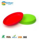 음식 안전한 아이 음식 격판덮개 BPA는 미끄러짐 실리콘 Placemats를 비 해방한다