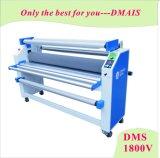 Máquina automática industrial do laminador do rolo da película fria de DMS-1800V Linerless com cortador