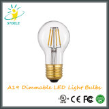 Bulbo del filamento de A19 4With6With8W LED con certificaciones de la UL de RoHS del Ce