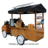 4 Wheels Coffee Trolley Bicycle with Motor Electric
