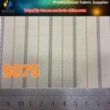 Polyester-Streifen gesponnenes Textilgewebe für Kleid in der Kassa-Ware (S72.75)