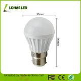 싼 가격 B22 3W 플라스틱 LED 전구