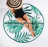 Реактивное Microfiber напечатанное вокруг полотенца пляжа круга с высокомарочным