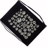 Sac à dos estampé personnalisé durable de sac de cordon de toile de coton de logo