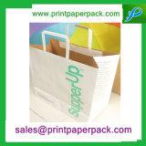 관례에 의하여 인쇄되는 Kraft 종이 봉지 쇼핑 백 호화스러운 선물 종이 봉지 운반대 부대 포장 부대