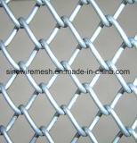 Rete fissa rivestita rivestita di collegamento Chain della rete metallica di obbligazione del PVC/PVC