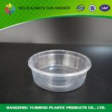 뚜껑을%s 가진 명확한 둥근 처분할 수 있는 플라스틱 음식 콘테이너