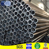 Tubo d'acciaio rotondo nero con differenti formati