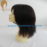 Peluca recta del pelo humano de la belleza 1# Remy para la mujer