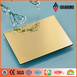 Лист ACP зеркала Ideabond B1 огнезащитный алюминиевый смуглавый для украшения фасада здания сделанного в Китае