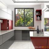 Cabina de cocina de madera moderna de la laca del vidrio Tempered de la alta calidad (OP15-L38)