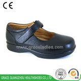 優美の健康は広い靴の歩きやすい革Wonmenの糖尿病患者の靴に蹄鉄を打つ
