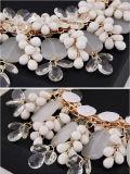 Monili acrilici della collana della bobina d'arresto del fiore di modo