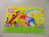 100%年の綿のかわいい漫画の反応印刷されたビーチタオル