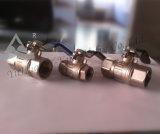 Robinets à tournant sphérique Pn40 en laiton pour le gaz naturel (YD-1017)