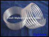 Tubo de vidro helicoidal de quartzo fundido do espaço livre da pureza elevada