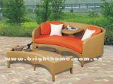 Weidenrattan-Doppelt-Sofa-gesetzter Garten-im Freienmöbel Bl-2332