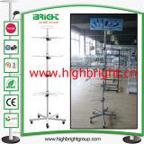 Empilar el estante de la cesta de alambre de metal/el soporte de visualización de la promoción de la cesta