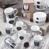 Eco-Friendly 20 once di ceramica su ordinazione New Bone China Mug Coppe