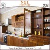 N & L Porta de vidro de madeira maciça de cerâmica / carvalho Mobiliário de cozinha de mobiliário italiano