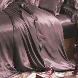 Ropa de cama determinada del estilo de la nieve de Taihu de Oeko-Tex 100 de la elegancia del lecho de seda inconsútil europeo de la hoja