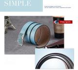 Form-Entwurfs-Metallgürtelschnalle-echte lederne Riemen