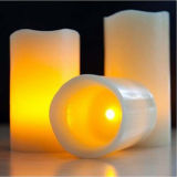 3 установленное Paraffin Wax Color Chang СИД Candle для Home Decoration
