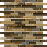 Azulejo superficial natural irregular de la pared, mosaico de piedra de mármol amarillento