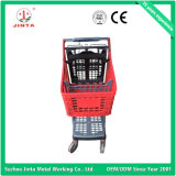 Chariot d'achat de supermarché en plastique pur de qualité supérieure (JT-E02)
